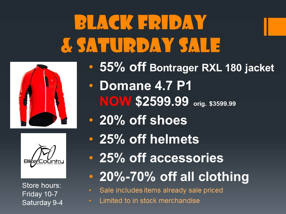 Black Friday Sale - Bike Country